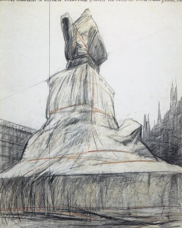 Christo, Progetto per Piazza Duomo Milano, 1970