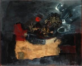 Clavé, Feuilles et point roug, 1960