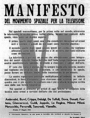 Manifesto spaziale per la televisione, 1952