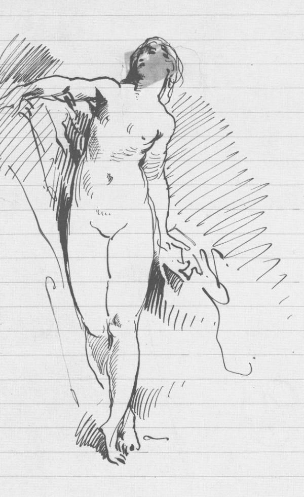 Pogliaghi, Studio di nudo femminile