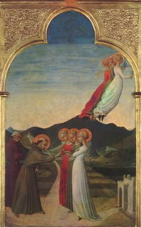 Sassetta, Mistiche nozze di San Francesco, 1437-1444