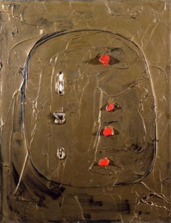 Fontana, Concetto spaziale. Venezia d'oro, 1961