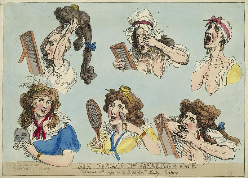 Thomas Rowlandson (1756-1827) Six Stages of Mending a Face, 1792 © Hamburger Kunsthallebpk
