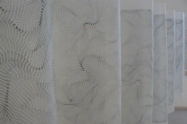 Dadamaino, Il movimento delle cose, 1996, installazione alla galleria Spazia, Bologna, 2009
