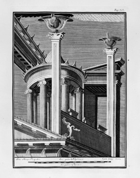 Tomo III. Scorcio architettonico con tholos, da Portici