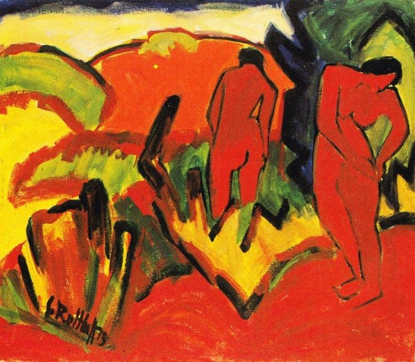 Schmidt-Rottluff, Estate. Nudi all'aperto, 1913