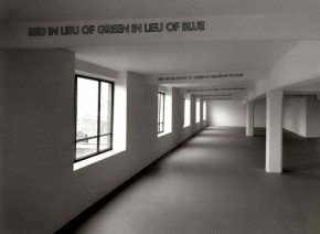 Lawrence Weiner, Green as Well as Blue as Well as Red, 1972