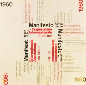 Manifesto contra niente, 1960