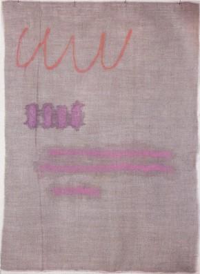 Griffa, Rosso su viola, 1982