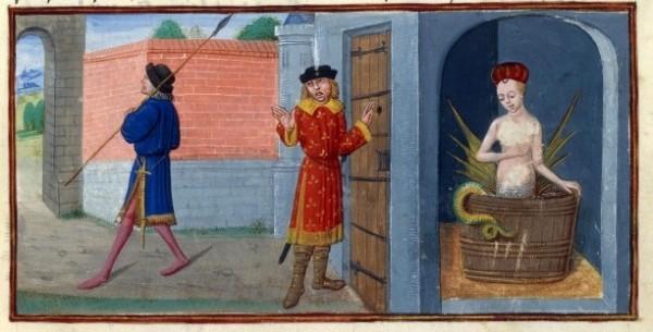 Raimondin découvrant le secret de Mélusine, xv secolo