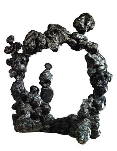 Fontana, Concetto spaziale. Scultura nera, 1947