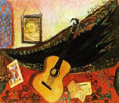Raphaël, Natura morta con chitarra, 1928