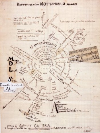 Carrà, Rapporto di un nottambulo milanese, 1914