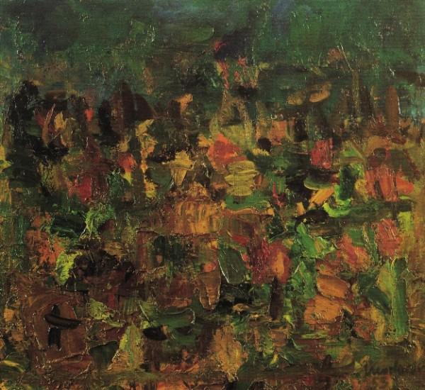 Morlotti, Paesaggio lombardo, 1955