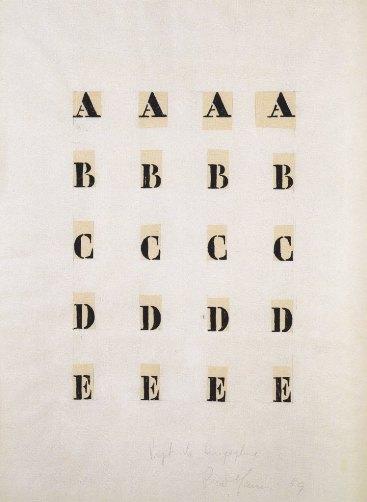 Manzoni, Alfabeto, 1959
