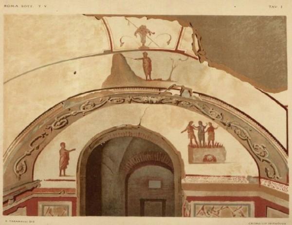 I. Cappella Greca. Mosé che percuote la rupe e i Tre giovani ebrei nella fornace