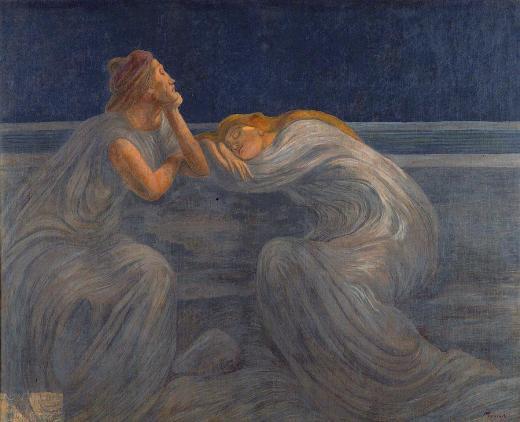 Previati, Notturno, 1909