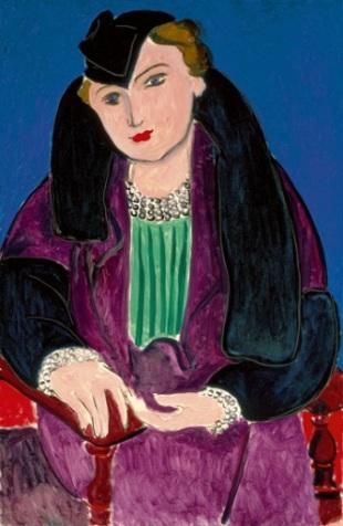 Matisse, Portrait au manteau bleu, 1935