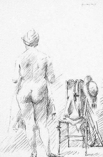 Manzù, Disegno per Il Novellino, 1944