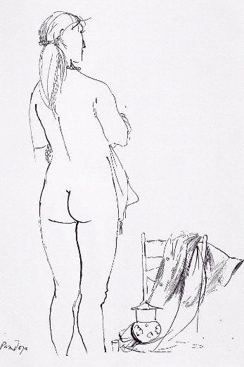 Manzù, Disegno per Le opere e i giorni, 1966