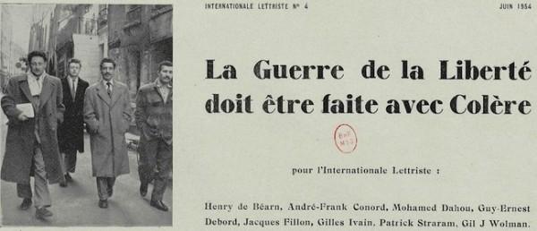 Debord, La guerre de la liberté..., 1954