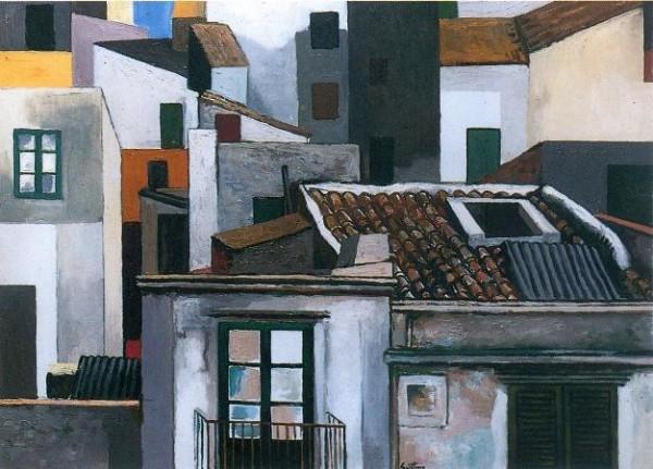 Guttuso, Case di Palermo, 1976