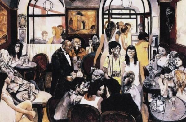 Guttuso, Il Caffè Greco, 1976