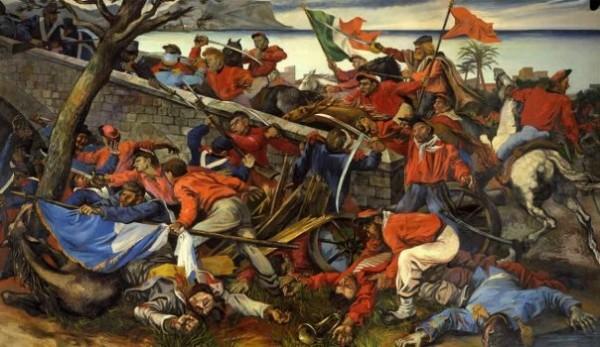 Guttuso, La battaglia di Ponte dell'Ammiraglio, 1952