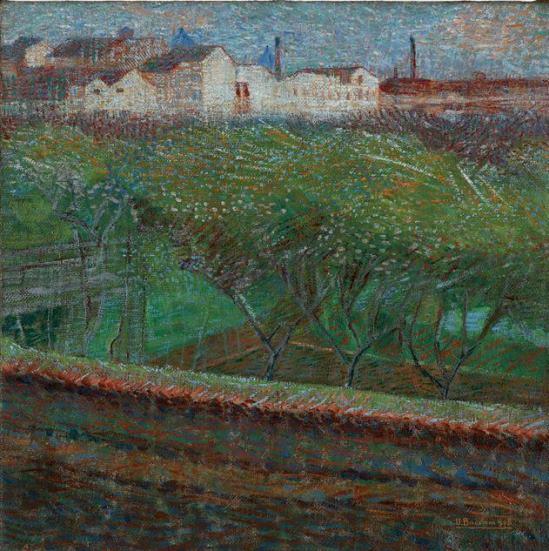 Boccioni, Sera d'aprile, 1908
