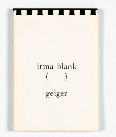 Irma Blank, (), Edizioni Geiger, Torino 1975