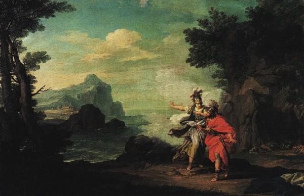 Bottani, Atena rivela Itaca a Ulisse, 1775