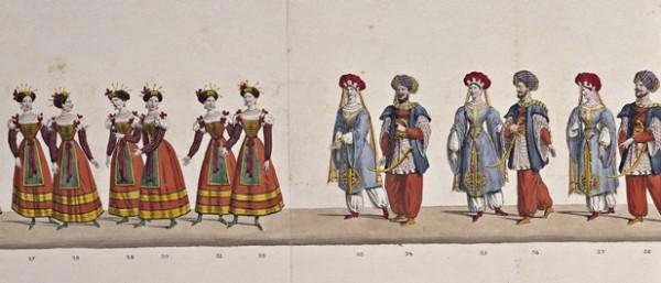 La Quadriglia Napoletana e la Quadriglia Tartara, 1827