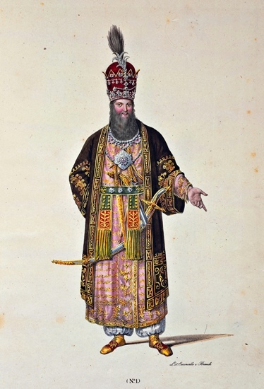 Re Francesco I di Borbone come lo Shah, 1827