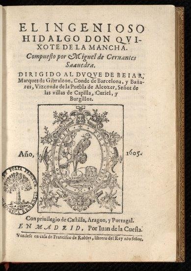El ingenioso hidalgo Don Quixote de la Mancha, Madrid 1605