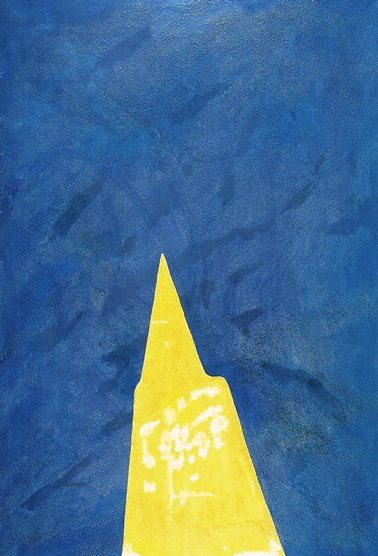 Turcato, Ipnotico blu, 1982
