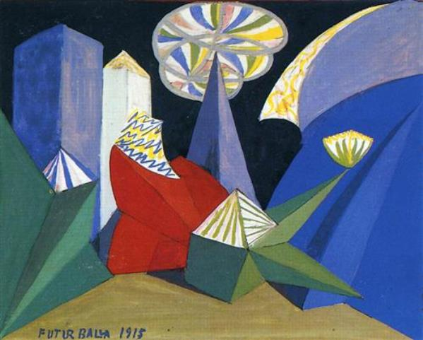 Balla, Feu d'artifice, 1915
