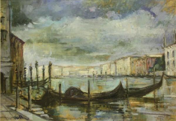 Raffaello Locatelli, Venezia, barche, c. 1960