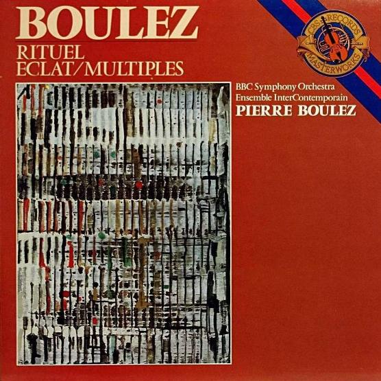 Pierre Boulez, Rituel Eclats Multiples, 1976, copertina di Vieira da Silva