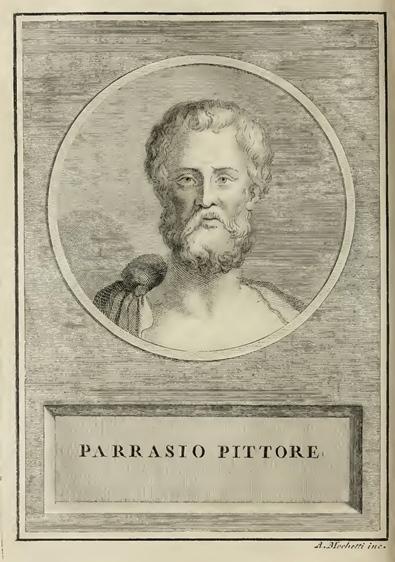Parrasio, in Della Valle, Della Valle, da Vite dei pittori antichi greci e latini, 1795