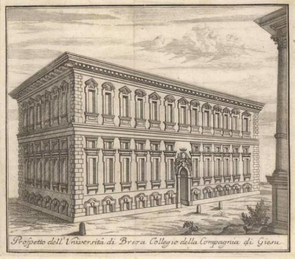 Milano. Palazzo di Brera ex Collegio dei Gesuiti, 1738