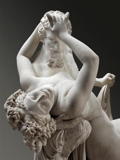 Pradier, Satyre et Bacchante, 1834