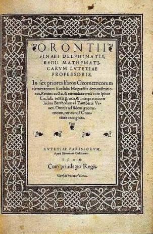 Orontii Finaei . . . In sex priores libros Geometricorum . . .,  Simon de Colines, Paris 1544