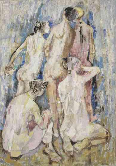 Pirandello, Bagnanti di schiena, c. 1955