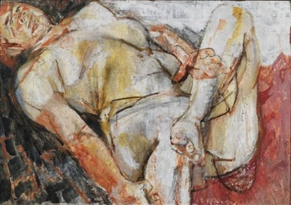 Pirandello, Nudo su fondo rosso, 1951