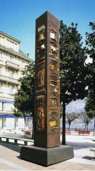 Pomodoro, Obelisco Cassodoro, 1988