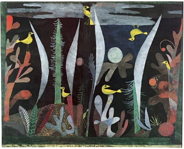 Klee, Landschaft mit gelben Vögeln, 1923