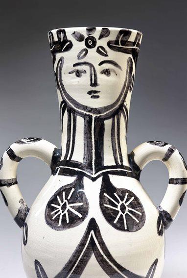 Picasso, Vase Visage et corps, 1953