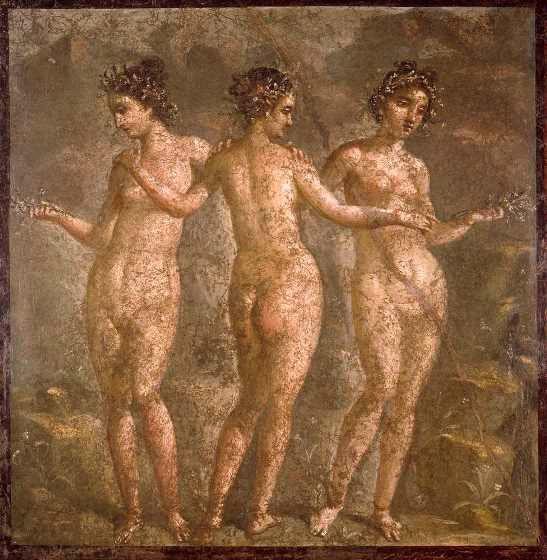 Le tre Grazie, Museo Archeologico Nazionale, Napoli