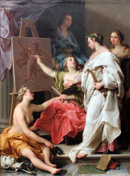 Batoni, Allegoria delle Arti, 1740