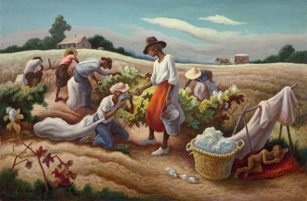 Benton, Cotton Pickers, 1945